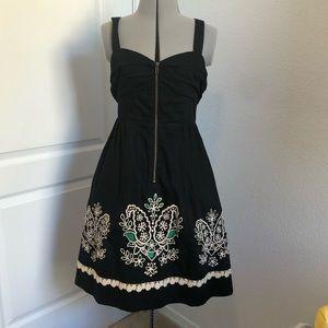 Anthropologie Floreat front zip dress